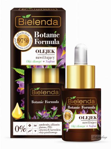 Bielenda - Botanic Formula - Moisturizing Face Oil - Hemp + Saffron - Nawilżajacy olejek - Konopie + Szafran - 15 ml