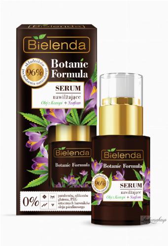 Bielenda - Botanic Formula - Moisturizing Face Serum - Hemp + Saffron - Moisturizing face serum - Hemp + Saffron - 15 ml