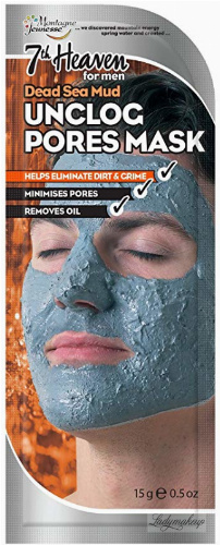7th Heaven (Montagne Jeunesse) - Dead Sea Mud Unclog Pores Mask - Cream mask unblocking pores for men