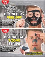 7th Heaven (Montagne Jeunesse) - Men Duo Peel Off - Black Clay + Blackhead T-Zone - Zestaw do oczyszczania twarzy dla mężczyzn Peel Off - Maska Black Clay + Plastry Blackhead T-Zone