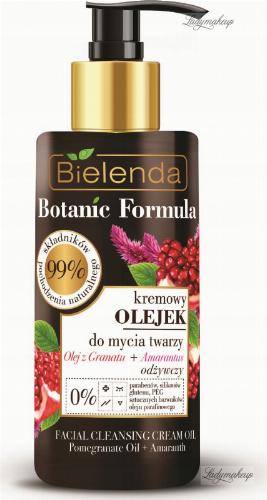 Bielenda - Botanic Formula - Facial Cleansing Cream - Pomegranate Oil + Amaranth - Kremowy Olejek do mycia twarzy - Olej z granatu + Amarnatus - 140 ml