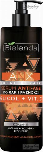 Bielenda - ANX Total Repair - Hand and Nail Serum with Glicolic Acid & Vit. C - Serum Anti-age do rąk i paznokci - 200 ml