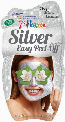 7th Heaven (Montagne Jeunesse) - Silver Easy Peel Off Mask - Srebrna maseczka do twarzy - Peel Off