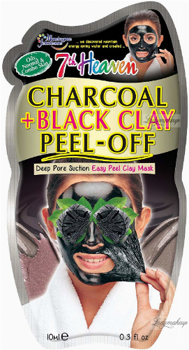 7th Heaven (Montagne Jeunesse) - Charcoal + Black Clay Peel Off Mask - Detoxifying face mask with active charcoal - Peel Off