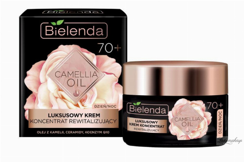 Bielenda - CAMELLIA OIL - Luxurious revitalizing cream concentrate - 70+ day / night - 50 ml