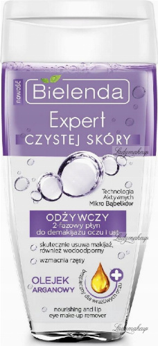 Bielenda - Nourishing Eye and Lip Make-up Remover - Expert Clean Skin - Nourishing 2-phase eye and lip make-up remover - Argan oil -150 ml