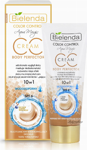Bielenda - Aqua Magic - CC 10in1 - Multifunctional Body Cream - Waterproof - Multifunctional body correction cream - CC - 10in1 - Waterproof - 175 ml