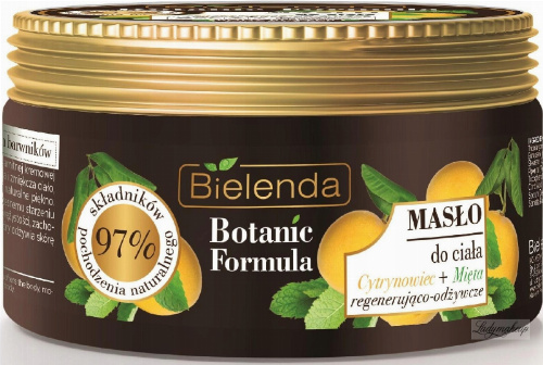 Bielenda - Botanic Formula - Body Butter - Lemon Tree + Mint - Body Butter - Regenerating and Nourishing - 250 ml