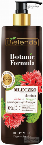 Bielenda - Botanic Formula - Body Milk - Ginger + Angelica - Moisturizing and firming Body Milk - Ginger + Dziel - 400 ml