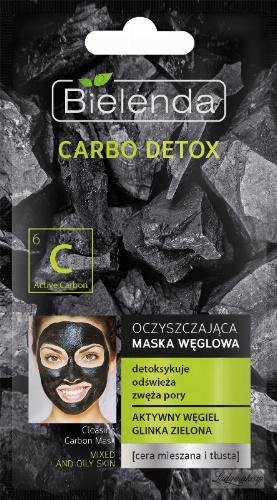 Bielenda - Carbo Detox - Cleansing Carbon Mask - Cleansing carbon face mask - 8 g