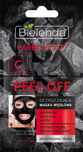 Bielenda - Carbo Detox - Cleansing Carbon Peel Off Mask - Peel Off Cleansing Carbon Mask - 2 x 6g