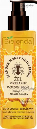 Bielenda - Manuka Honey Nurtri Elixir - Soothing & Moisturising Micellar Face Cleansing Gel - Soothe-moisturizing micellar face wash gel - 200 g