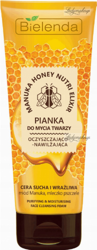 Bielenda - Manuka Honey Nutri Elixir - Purifying & Moisturizing Face Cleansing Foam - Cleansing and moisturizing face cleansing foam - 175 g
