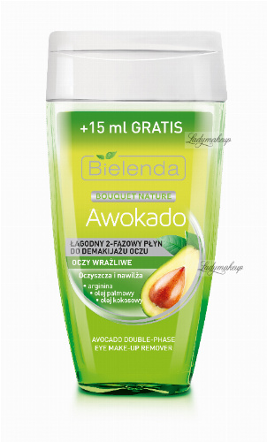 Bielenda - Bouquet Nature - Avocado Double-Phase Eye Make-up Remover - Mild 2 Phase Eye Makeup Remover - Avocado - 140 ml