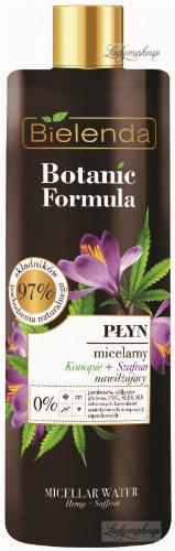 Bielenda - Botanic Formula - Micellar Water - Hemp + Saffron - Micellar Liquid - Hemp + Saffron - 500 ml