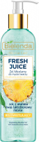 Bielenda - Fresh Juice - Brightening Micellar Gel with Bioactive Citrus Water - Brightening micellar face wash gel with bioactive citrus water - 190 g