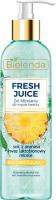 Bielenda - Fresh Juice - Brightening Micellar Gel with Bioactive Citrus Water - Rozświetlający żel micelarny do mycia twarzy z bioaktywną wodą cytrusową - 190 g