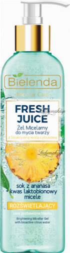 Bielenda - Fresh Juice - Brightening Micellar Gel with Bioactive Citrus Water - Brightening micellar face wash gel with bioactive citrus water - 190 g