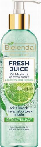 Bielenda - Fresh Juice - Detoxifying Micellar Gel with Bioactive Citrus Water - Detoxifying micellar face wash gel with bioactive citrus water - 190 g