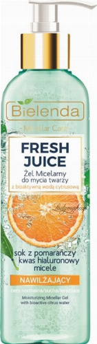 Bielenda - Fresh Juice - Moisturizing Micellar Gel with Bioactive Citrus Water - Moisturizing micellar gel for washing the face with bioactive citrus water - 190 g