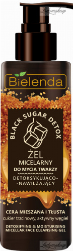 Bielenda - Black Sugar Detox - Micellar Face Cleansing Gel - Detoxifying and moisturizing micellar face wash gel