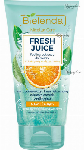 Bielenda - Fresh Juice - Moisturizing Sugar Face Peeling - Moisturizing sugar face peeling with bioactive citrus water - 150 g