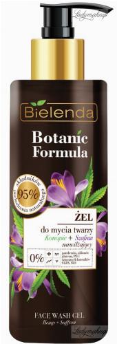 Bielenda - Botanic Formula - Face Wash Gel - Hemp + Saffron - Face wash gel - Hemp + Saffron - 200 ml
