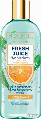 Bielenda - Fresh Juice - Moisturizing Micellar Liquid with Bioactive Citrus Water - Moisturizing micellar liquid with bioactive citrus water - 500 ml