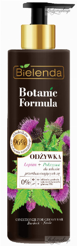 Bielenda - Botanic Formula - Conditioner Burdoc + Nettle - Conditioner for oily hair - Burdock + Nettle - 245 ml