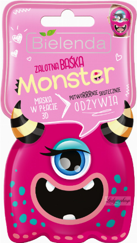Bielenda - Monster - 3D mask - Zalotna Baśka - Nourishes