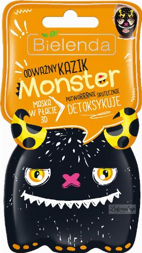 Bielenda - Monster - 3D masked mask - Brave Kazik - Detoxifies