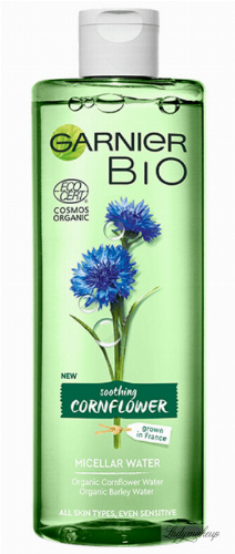GARNIER - BIO SOOTHING CORNFLOWER - MICELLAR WATER - Kojący płyn micelarny - 400 ml