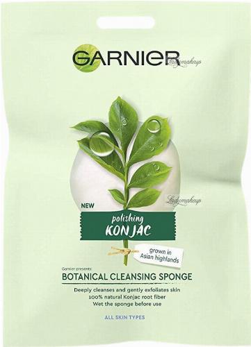 GARNIER - BIO POLISHING KONJAC - BOTANICAL CLEANSING SPONGE - Oczyszczająca gąbka Konjac
