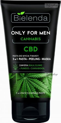 Bielenda - Only For Men Cannabis - CBD- 3in1 Face Cleansing Paste - 3in1 face cleaning paste - 150g