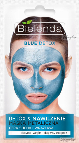 Bielenda - Blue Detox & Moisturizing Metallic Face Mask - Detox & Hydration Metallic mask - 8 g