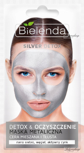 Bielenda - Silver Detox & Cleansing Metallic Face Mask - Detox & Cleansing Metallic mask - 8 g
