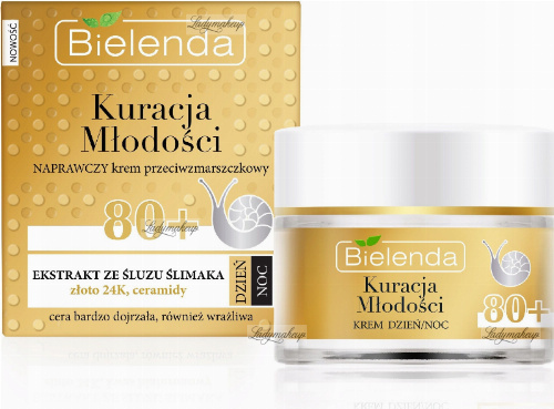 Bielenda - Youth Treatment - Repair anti-wrinkle cream - 80+ Day / Night - 50 ml