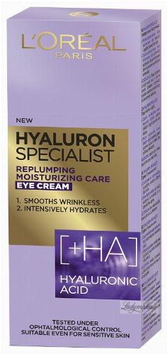 L'Oréal - HYALURON SPECIALIST EYE CREAM - Przeciwzmarszczkowy krem pod oczy - 15 ml