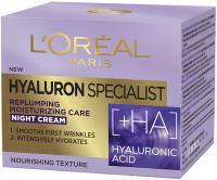 L'Oréal - HYALURON SPECIALIST NIGHT CREAM - Przeciwzmarszczkowy krem do twarzy na noc - 50 ml