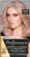 L'Oréal - Préférence - 8.23 - SANTORINI - MEDIUM ROSE GOLD - Farba do włosów - Trwała koloryzacja - Jasny blond opalizująco-złocisty