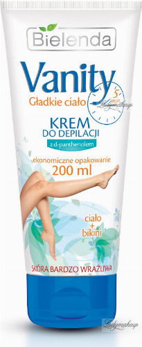 Bielenda - Vanity - Smooth body - Hair removal cream with d-panthenol - Body + Bikini - 200 ml
