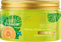 Bielenda - Exotic Paradise - Moisturizing Body Scrub - Moisturizing body sugar scrub - Melon