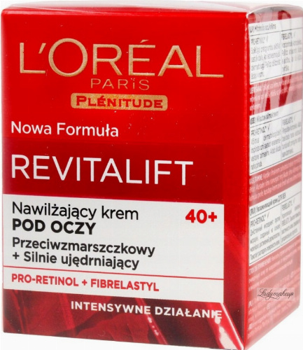 L'Oréal - REVITALIFT HYDRATING EYE CREAM - Nawilżająco-przeciwzmarszczkowy krem pod oczy - 40 +