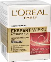 L'Oréal - EKSPERT WIEKU - Potrójna moc - Przeciwzmarszczkowy krem pod oczy - 50+