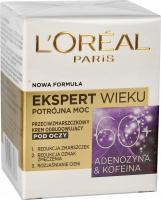 L'Oréal - EKSPERT WIEKU - Potrójna moc - Przeciwzmarszczkowy krem odbudowujący pod oczy - 60+