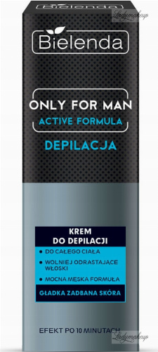 Bielenda - Only for Man - Active Formula - Hair Removal Cream - Krem do depilacji - 100 ml