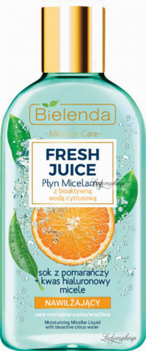 Bielenda - Fresh Juice - Moisturizing Micellar Liquid with Bioactive Citrus Water - 100ml moisturizing micellar liquid with bioactive citrus water