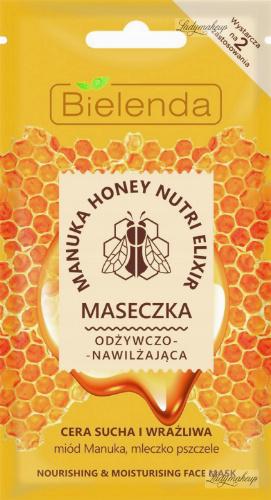 Bielenda - Manuka Honey Nutri Elixir - Nourishing & Moisturizing Face Mask - Nourishing and moisturizing mask - 8 g