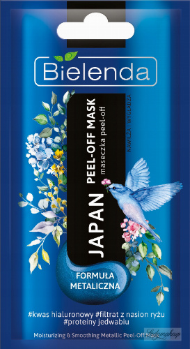 Bielenda - Japan - Moisturizing & Smoothing - Metallic Peel-Off Mask - Metaliczna maseczka peel-off - Nawilża i wygładza - 8 g
