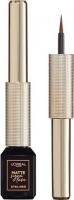 L'Oréal - MATTE SIGNATURE EYELINER - Eyeliner w płynie - 03 - BROWN - 03 - BROWN